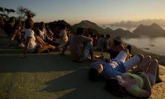Fim de tarde no Parque da Cidade, em Niterói Foto: Guilherme Leporace / Agência O Globo