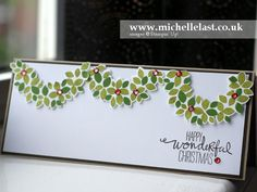 Handmade Wondrous Wreath Stampin' Up! Christmas Card - with Michelle Last
