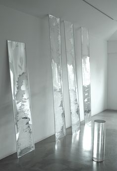 Untitled (2011) mylar, aluminium and acrylic tube by Adam Thompson