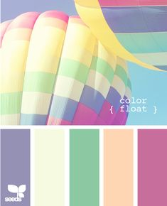 color float - springtime shower or baby shower Colour Pallette, Colour Schemes, Color Patterns, Color Combinations, Paint Paint, Design Seeds, Colour Board, Color Swatches, Color Stories