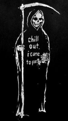 37 Ideas party quotes lets Arte Dope, Party Quotes, Skeleton Art, Arte Obscura, Skull Wallpaper, Grim Reaper, Skull Art, Dark Art, Aesthetic Wallpapers