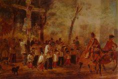 К.П. БРЮЛОВ «ПРОЦЕССИЯ СЛЕПЫХ В БАРСЕЛОНЕ» 1850