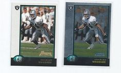 cool 2-1998 CHARLES WOODSON ROOKIE CARDS BOWMAN CHROME OAKLAND RAIDERS FOOTBALL LOT - For Sale View more at http://shipperscentral.com/wp/product/2-1998-charles-woodson-rookie-cards-bowman-chrome-oakland-raiders-football-lot-for-sale/
