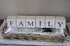 Palikat, joista muodostuu sana Family