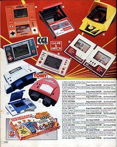 80s toys - donkey kong, mario, snoopy tennis, tomytronic, master challenge