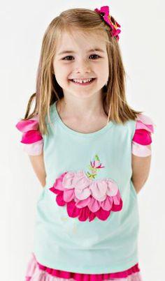 Lemon Loves Lime Girls Fair Aqua Tea Rose Tink Tank Shirt - cute, but too expensive - check back for sale