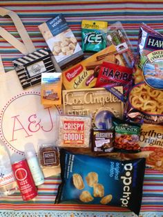 welcome bags for out-of-town guests