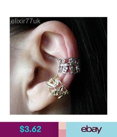Earrings Hot Silver Or Gold Flower Rose Ear Cuff Upper Helix Cartilage Clip On Earring Uk
