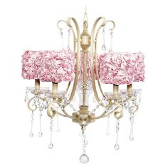 15 Alluring Pink Chandeliers for a Girls Bedroom Pink