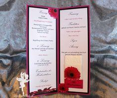 wedding ceremony program #weddinginvitation #weddingpapeterie #hochzeitseinladung #feenstaub