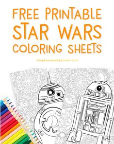 FREE Star Wars Printable Coloring Pages: & - FREE Star Wars Printable Coloring Pages: & Beth Hayes Kids stuff Free Printable Star Wars Coloring Pages For Kids And Adults Star Wars Art Projects For Kids, Art Projects For Adults, Diy Art Projects, Coloring For Kids, Coloring Books, Coloring Sheets, Free Coloring, Adult Coloring, Star Wars Coloring Book