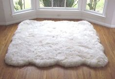 Fluffy White Area Rug-would be perfect for my office!
