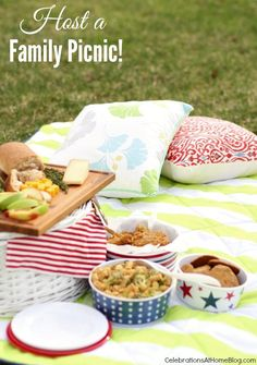 A FAMILY PICNIC WITH MARTHA STEWART #picnic