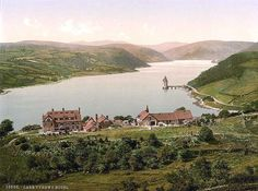 An poster sized print, approx mm) (other products available) - Lake and hotel, Vyrnwy, Wales. 1890 and ca. Date: - Image supplied by Mary Evans Prints Online - poster sized print mm) made in the UK Fine Art Prints, Framed Prints, Canvas Prints, Sunken City, Lake Hotel, Old Pictures, Wonderful Images, Photographic Prints, Cool Places To Visit