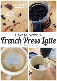 Be Your Own Barista: Healthy French Press Latte Recipe sponsored by Kohls