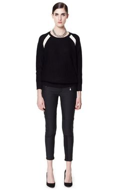 CONTRAST SWEATER - Knitwear - Woman - ZARA United States