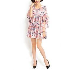 Langarmblusen - Chiffon Blumen- Mode Tops, Sommer-Bluse - ein Designerstück von DIYtime bei DaWanda