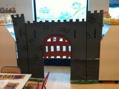 décoration de notre coin BCD en château fort