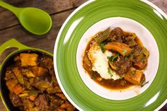 Beef and Butternut Stew with Mustard Mashed Potatoes and Parsnips - RachaelRay.com