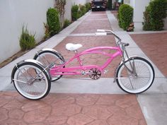 custom PINK 3 wheeler  bicycle