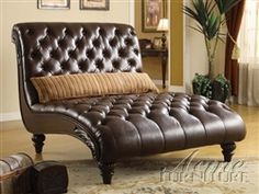 Acme Furniture Living Room Chaise Lounge with Pillows Leather Chaise Lounge Chair, Lounge Sofa, Leather Sofa, Leather Chairs, Brown Leather, Most Comfortable Office Chair, Acme Furniture, Recycled Furniture, Furniture Ideas