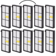 New 10 pack Hepa Filter Accessory For iRobot Roomba 800 900 Series 870 880 980 Vacuum Robots Replacements Parts +1 Bumper Strip