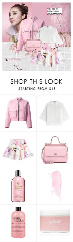 """""""19K"""" by e-laysian ❤ liked on Polyvore featuring Sonia by Sonia Rykiel, Kenzo, Dolce&Gabbana, Molton Brown, philosophy and Aerie"""