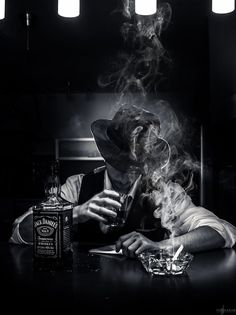 All things Jack Daniel's Film Noir Photography, Smoke Photography, Photography Ideas, Peaky Blinders, Black White Photos, Black And White Photography, Smoke Art, Galaxy Wallpaper, Dark Art