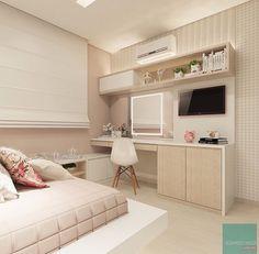 26 Stunning Workspace Bedroom Design And Decor Ideas - Home Bestiest Dream Rooms, Dream Bedroom, Home Bedroom, Bedroom Decor, Bedrooms, Mirror Bedroom, Cute Room Decor, Girl Bedroom Designs, Girls Bedroom