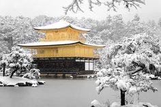 Kinkakuji in snow, Kyoto, Japan  I would like a photo like this please!
