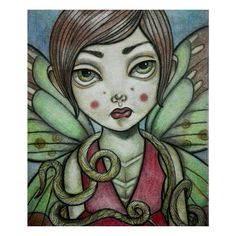 Metamorfosis #portrait #pastel #insect #butterfly #artwork