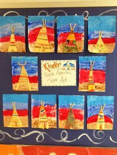 elementary art lesson native american tipi - Google Search