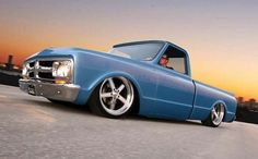 Blue Low Rider Truck