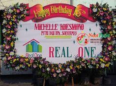 TOKO BUNGA SURABAYA | Noor Florist, Bunga Papan Sukses, Bunga Papan Duka Cita, Bunga Papan Wedding: Bunga papan Happy Birthday Ke 16 th - Kirim ke jw ...