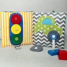 Livre Eveil et Activité, Jeu Eveil, Inspiration Montessori, Livre Tissu Eveil Enfant, Personnalisable Cadeau Enfant