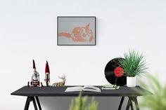 Cat portrait - Orange Cat - cat portrait - cats decoration - cat image - unique - signed - original image #CatPortrait #CatDecoration #etsy