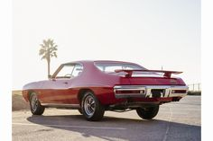 Pontiac debuted 'The Judge' in 1969, a more aggressive version of its GTO muscle car. The Judge is known for its rear wing, pictured here.