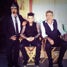 """On set of brand new Sixx:A. Video shoot ""Gotta Get It Right"" with Rock Artists, Music Artists, Music Love, New Music, Motley Crue Nikki Sixx, Sixx Am, Bret Michaels, Movie Wallpapers, On Set"