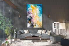 Large Abstract Painting,square painting,extra large wall art,large abstract art,textures painting FY0026