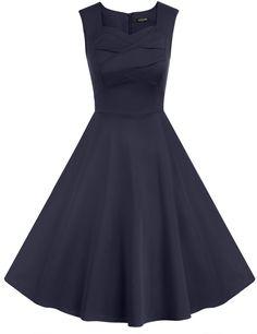 1950s Stylish Women Retro Sleeveless Square Neck Party Long Dress