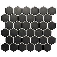Mosaikfliese Hexagon Uni HX 095 x cm, Schwarz, Matt) Black Hexagon Tile, White Mosaic Tiles, Black Tiles, Hexagon Tiles, Mosaic Tile Sheets, Wall Tiles, Led Profil, Rustic Cottage, Modern Country
