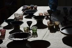 ©Gosha Nagashima, hand build pottery, hand painted glasses