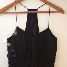 """Tibi silk LBD Perfect LBD for spring and summer.  Spaghetti straps and racerback cut.  Empire waist.  Side zip.  Like new condition.  Lined.  Measures 36"""" from shoulder to hem.  13"""" across at gathered waist.  15"""" bust.  No trades. Reasonable offers welcome Note: 20% off bundles of 2+ items in my closet! Tibi Dresses Mini"""
