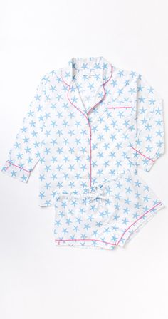 Pine Cone Hill Summer Blue Star PJs - One Fish Two Fish