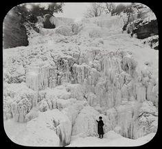 Frozen Falls, Watkins Glen, NY. Attributed to William H. Rau (1855-1920)