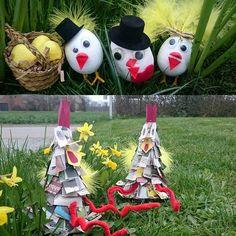 Søde kyllinger og skøre høns 😄🐣 DIY på bloggen www.mamenohr.dk  #diys#doityourself#kreativt#krea#kreahygge#hyggemedmitguld#børn#mamenohr#gørdetselv#