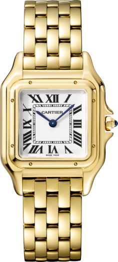 Panthère de Cartier watch Medium model, yellow gold