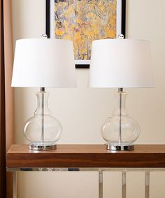 Loving this Glass Ellis Table Lamp - Set of Two on #zulily! #zulilyfinds