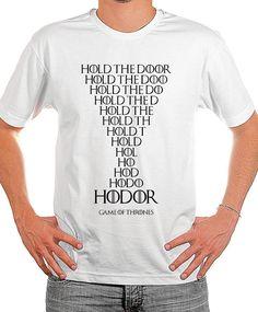 Linda camiseta de Game of Thrones, Hodor  Hold The Door    Tecido 100% Poliéster