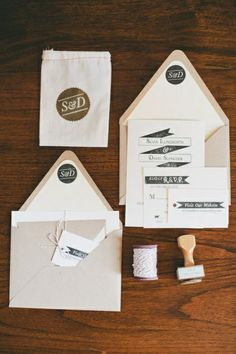 SPOTTED | Modern Banner Stamped Invitations